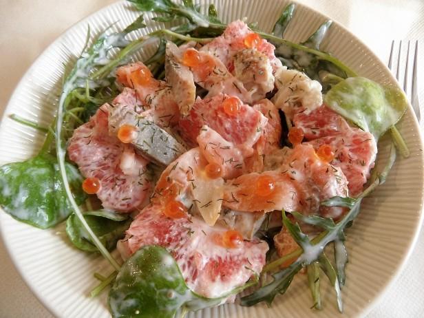 Salades d hiver aux poissons fum s blogs de cuisine - Salade d hiver variete ...